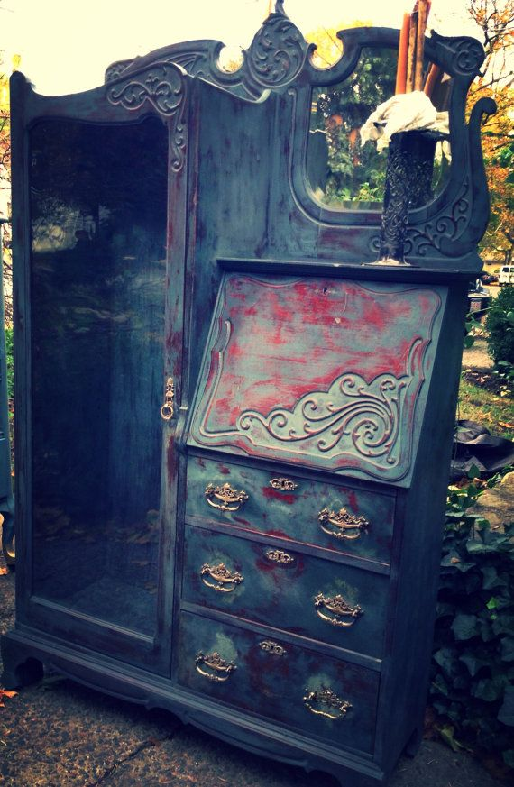 Floral Carved Wood Armoire Hand Painted Cabinet Indian Furniture | Armoires  Furniture | Pinterest | Indian Furniture, Armoires And Woods