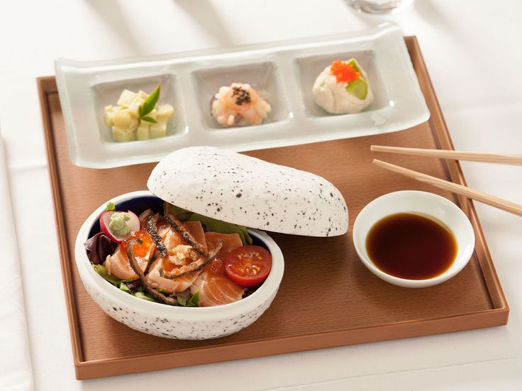"The premium menus of Singapore Airlines are legendary as a sampler of dishes from across Asia. Pre-ordering a special meal via Singapore's ""Book the Cook"" program ensures passengers always enjoy their first choice, one of which can be the multi-course Japanese Kyo Kaiseki on flights originating in Singapore."