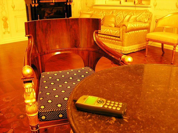 Беспроводной IP телефон в интерьере