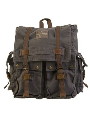 Barfota spring/summer 2014 Backpack canvas mole www.barfota.no