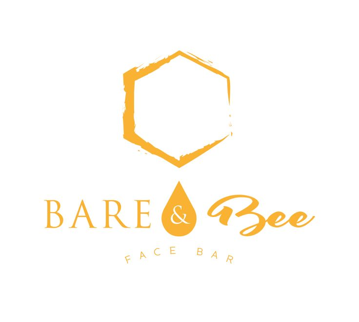 New logo design for Bare & Bee, a skincare studio using honey-based skincare products, based in San Diego, CA