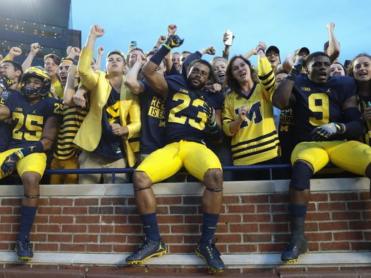 Hail to the Victors!       ...  Photo: Kirthmon F. Dozier Detroit Free Press
