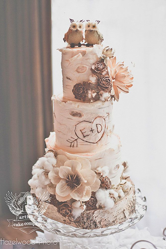 rustic wedding cake toppers uk 39 must see rustic woodland themed wedding cakes themed 19588