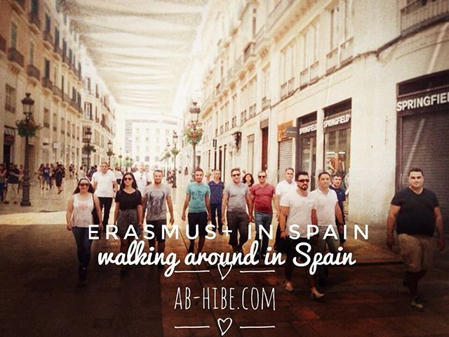 Our participants are walking around in Spain #erasmusplus #erasmusplus2016…