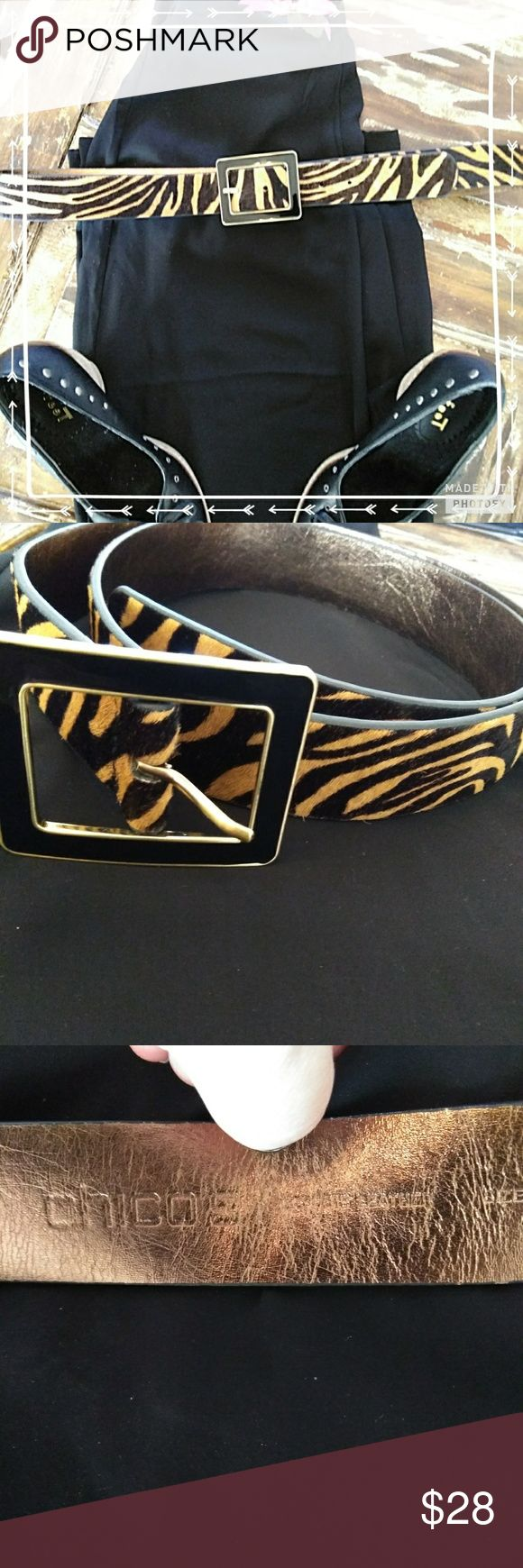 🎊 HP Wardrobe Goals 🎊 Chico's Animal Print Belt Chico's Leather Animal Print Belt Chico's Accessories Belts