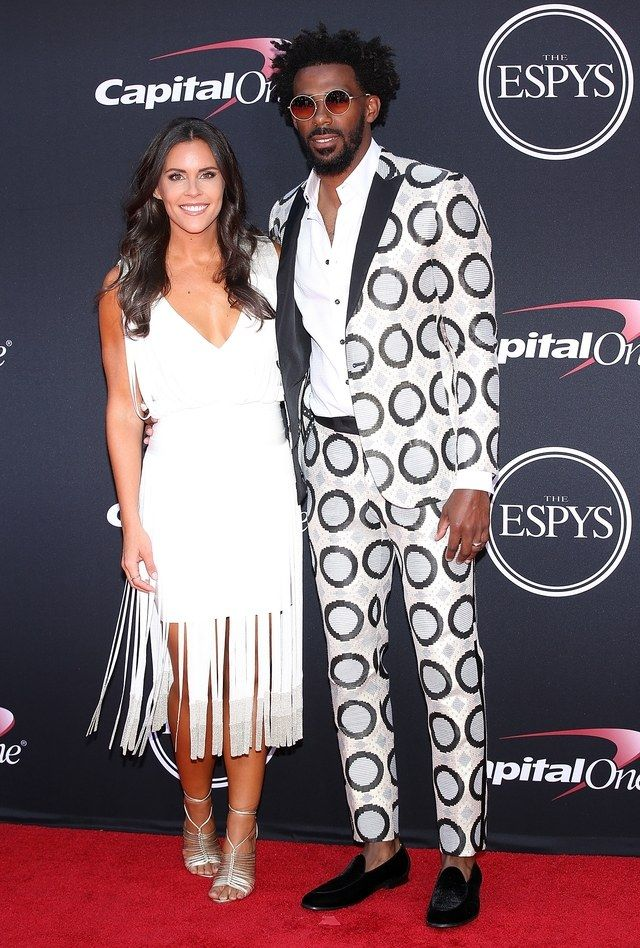 2017 ESPY Awards - NBA Player Mike Conley Jr., with his wife Mary Conley at the awards ceremony on July 12, 2017. Red Carpet Arrivals