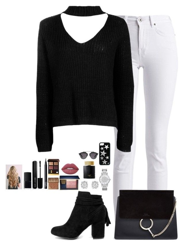 """""""Untitled #480"""" by mariapangal on Polyvore featuring Barbour International, Boohoo, Bamboo, Chloé, Michael Kors, Effy Jewelry, Lime Crime, Estée Lauder, tarte and NARS Cosmetics"""