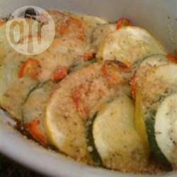 Foto recept: Zomerse courgette ovenschotel