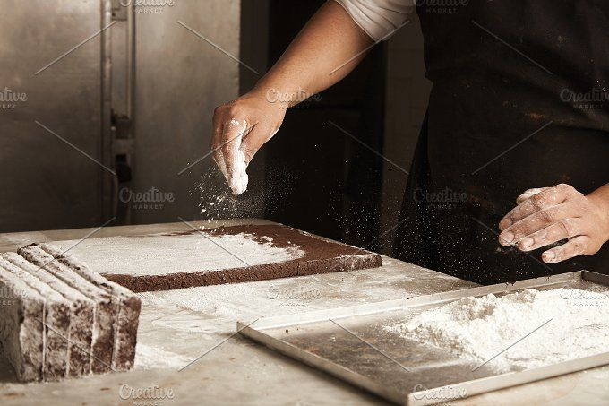 Professional chocolate cake bakery by DeRepente on @creativemarket