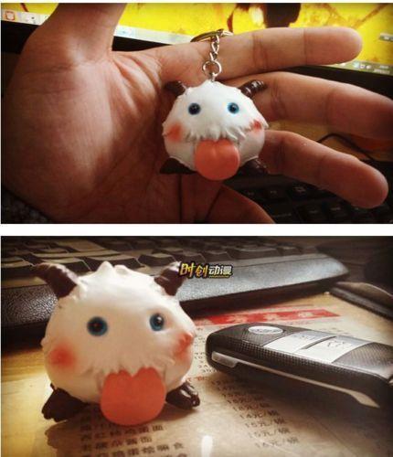 Cute Game LOL League of Legends sheep poro doll toys figure keychain keyring #cartoon