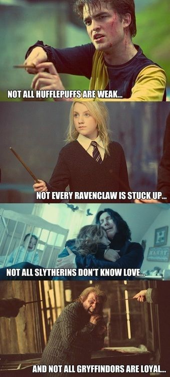 Oh I love this! Makes me feel better about being sorted into Ravenclaw in an online sorter lol