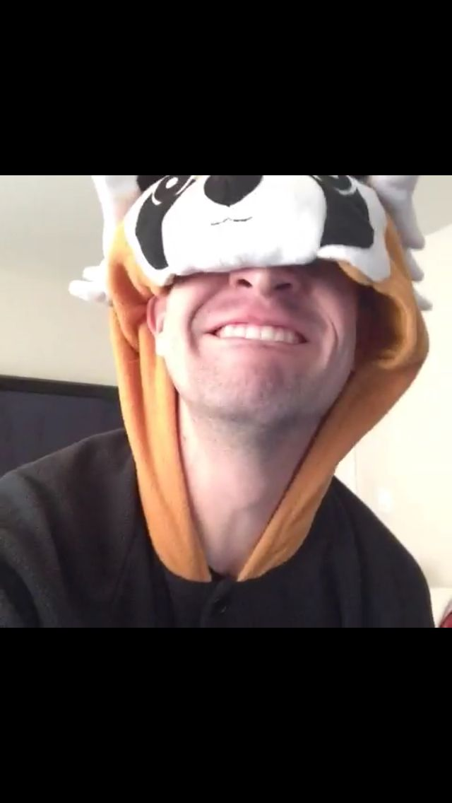 """""""IT'S HALLOWEEN AND I'M WEARING PAJAMAS! BEST PART? I'M A CUTE RED PANDA!"""" - wise words of Brendon Urie."""