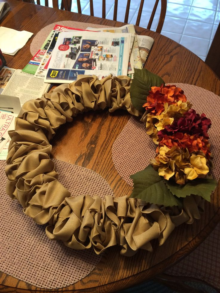 Diy burlap wreath for fall all items purchased from