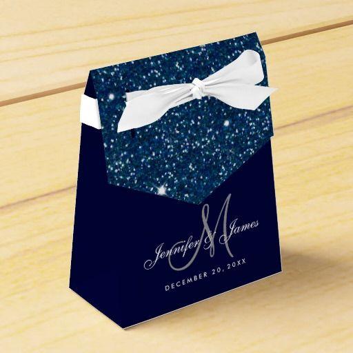 Starry Night Glitter Elegant Wedding Favor Box