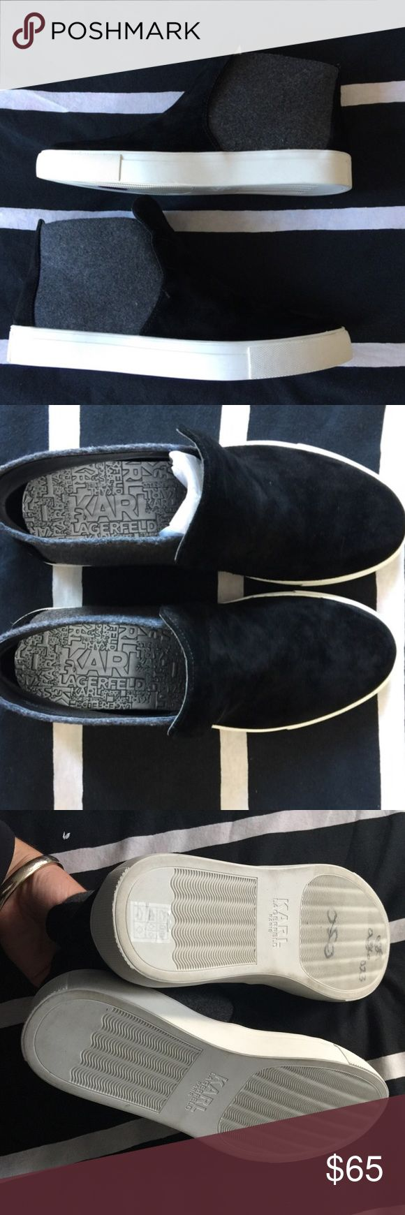 NEW KARL LAGERFELD CHUKKAS NWOT!! These are unreal shoes ! Designer for an awesome price! Found on clearance and couldn't resist! Karl Lagerfeld Shoes Sneakers