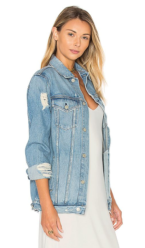 Shop for GRLFRND Daria Oversized Denim Trucker Jacket in You and I at REVOLVE. Free 2-3 day shipping and returns, 30 day price match guarantee.
