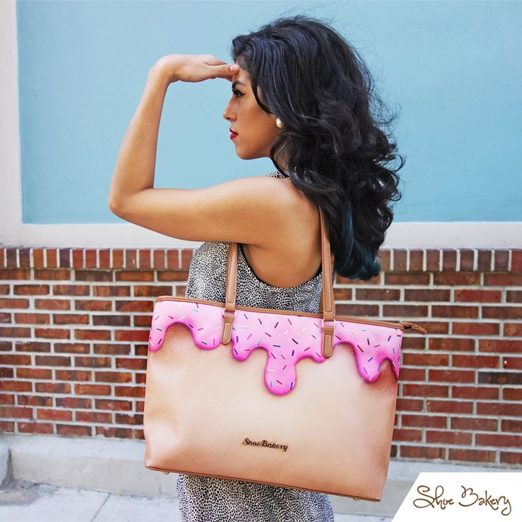 Pink Sprinkle Tote! Available at www.Shoebakery.com Our first Tote Bag!!