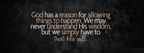 Trust His Will - Facebook Cover Photo