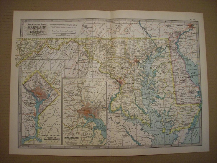 184 best Maryland Maps Place in MD and Charms of MD images on