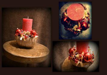 Czerwony świecznik - wystrój domu. #święta #bożenarodzenie #świecznik #dekoracja #domu #christmas #homedecor #candle