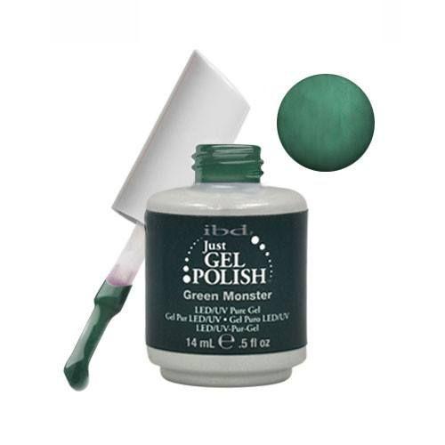 IBD Just Gel Soak Off Gel Nail Polish - GREEN MONSTER