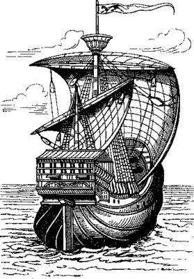 SAILING SHIP 4 - public domain clip art image