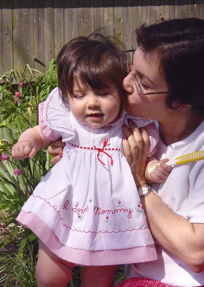 Vintage Baby Dress sz 6-12 month Embroidered I Love Mommy Red & White by PatrioticTreeHugger on Etsy