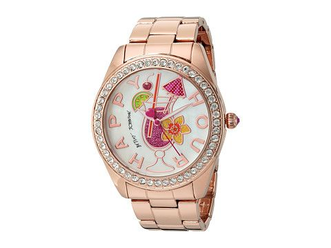 Betsey Johnson BJ00249-30 - Happy Hour Rose Gold - 6pm.com