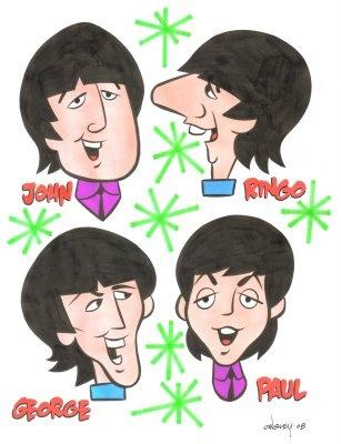 Patrick Owsley Cartoon Art and More!: THE BEATLES - CARTOON ORIGINAL ART! GREAT GIFT!