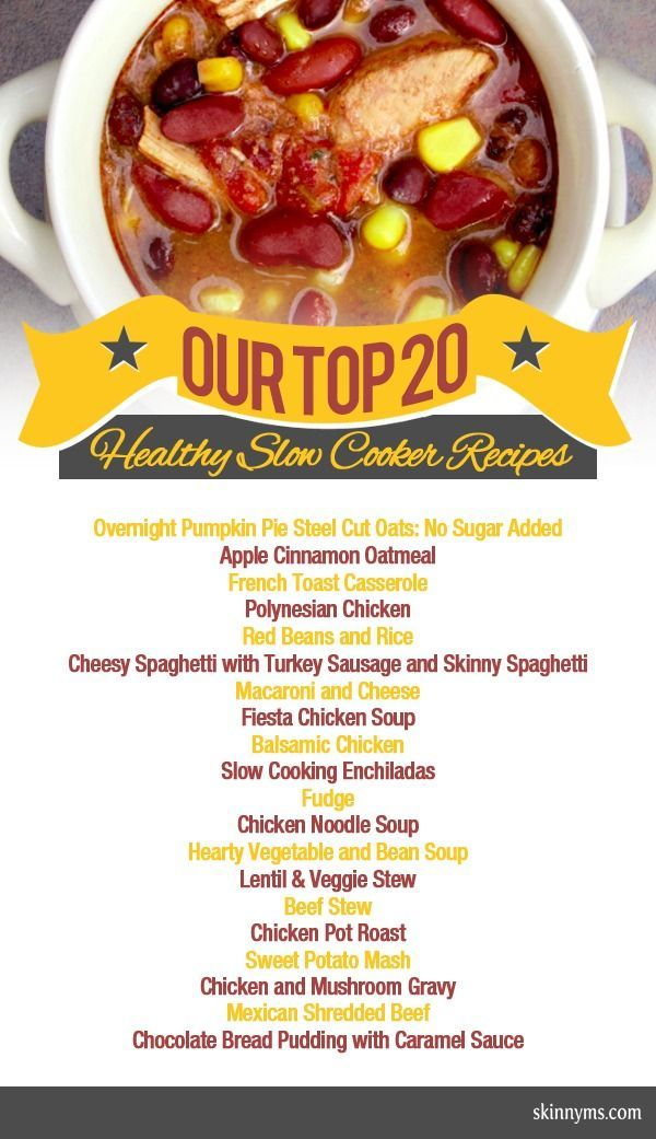 Top 20 healthy slow cooker recipes on healthy healthy for Healthy slow cooker chicken recipes