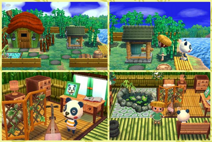 """Animal Crossing: Happy Home Designer- Chester- """"A bamboo playroom"""". Visit in game: 0205-5752-119. #AnimalCrossing #ACHappyHomeDesigner #ACHHD"""