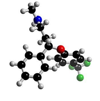 A fluoxetina é usada no tratamento da depressão e distúrbios obsessivo-compulsivos. Doses habituais variam de 20 mg a 80 mg. Doses individuais variam muito entre os indivíduos. Se interrompido o tratamento, deve-se retirar gradualmente a medicação.  Os efeitos colaterais mais comuns (mais de 1%):  Insônia e/ou sonolência;  Ansiedade e nervosismo;  Fadiga(cansaço) e astenia(fraqueza);  Perda ou aumento do apetite;  Náuseas com ou sem diarreia;  Tremores.