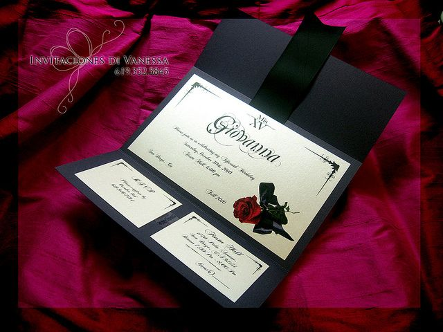 phantom of the opera wedding invitations - Google Search