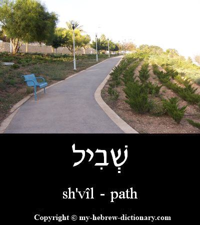 """How to say """"Path"""" in Hebrew. Click here to hear it pronounced by an Israeli: http://www.my-hebrew-dictionary.com/path.php"""