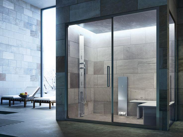 Douche hammam : l'hydro massage à portée de douche. #douche_Hammam, #baignoire_balnéo, #décoration_saledebain, #astuce_salle_de_bain