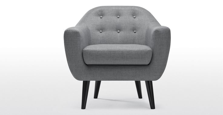The Ritchie armchair in pearl grey adds Danish inspired style with a contemporary colour.