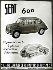 Seat 600. Uno de los importantes coches de los años 60.