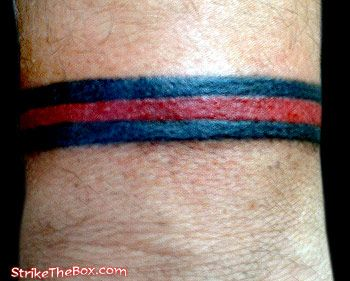 firefighter red line tattoo - Google Search