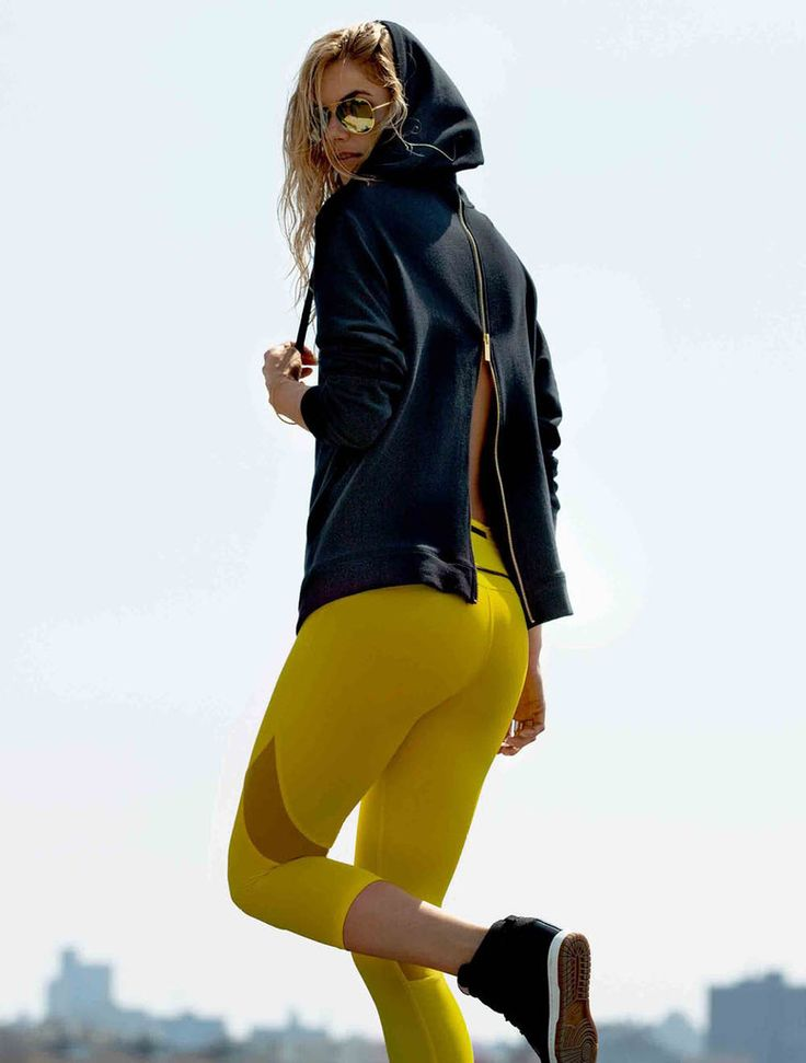 These yellow leggings would definitely add a ray of sunshine to your workout routine.