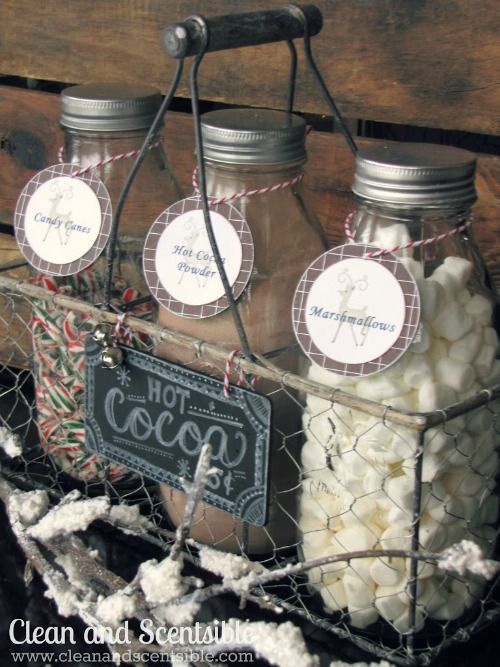 Candy Cane Hot Cocoa Bar or ice cream sundae toppings - 18 Great DIY Christmas Ideas for Enhancing the Christmas Spirit