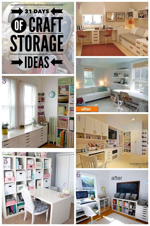 Today is the penultimate day of our series 31 Days of Craft Storage Ideas and I'm sharing with you some of my favourite craft studios that I've discovered during the series. As I expected, IKEA gets its usual space in the craft room and I have some ideas for combining guest rooms and craft rooms together.