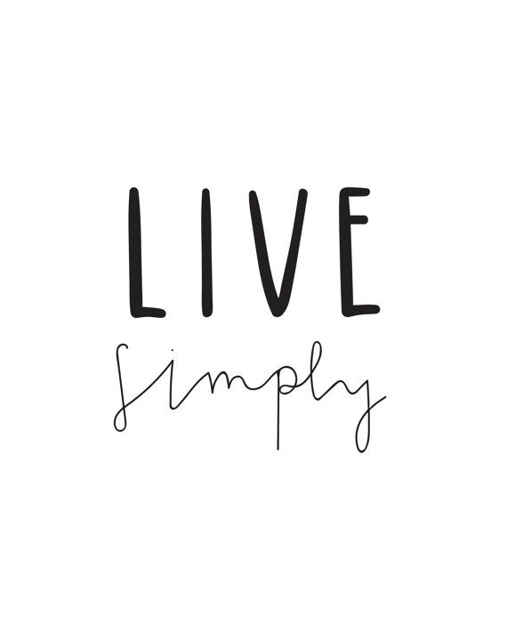 Live Simply by GRAYAESTHETIC on Etsy