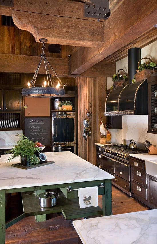 Rustic Style, Rustic Kitchens, Logs Cabin Kitchens Ideas, Belle Grey