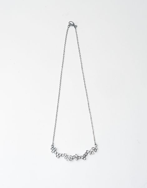 Laceum Necklace, sterling silver, oxidised