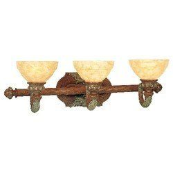 "Livex 8263-17 Salerno Bath Light Crackled Bronze with Vintage Stone Accents by Livex. $207.81. Livex Lighting 8263-17 Crackled Bronze with Vintage Stone Accents Bath Salerno 29"" W x 8.75"" H x 9.5"" E, 3x60W Med Base, Art Alabaster Glass Glass / Shade Backplage: 10""W x 6""H TTM (height from top of fixture to mounting): 5.25"" Height"