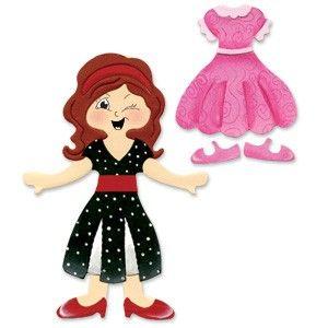 Sizzix Originals Die - Dress Ups Dresses & Shoes