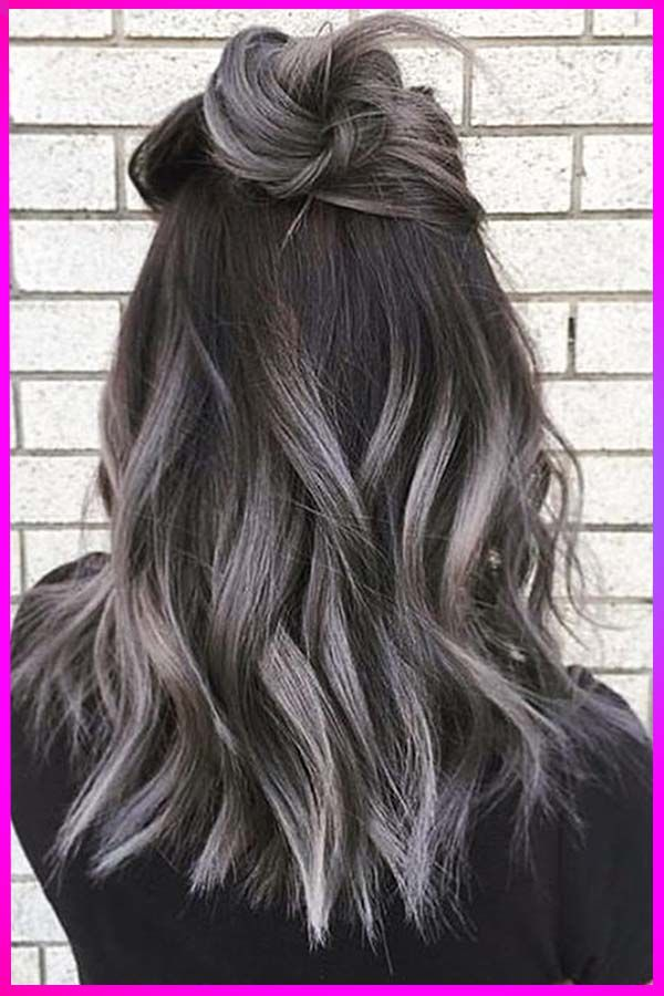 The Best Ash Gray Hairstyles And Colors For Womens With Round Face In 2020 In 2020 Ash Hair Color Ombre Hair Color Grey Ombre Hair