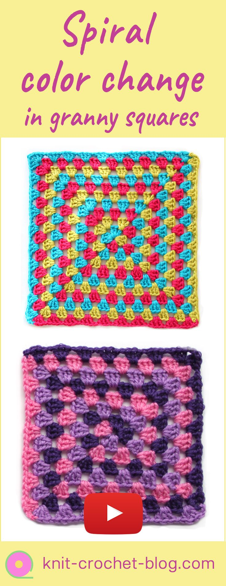 13330 best patterns for crochet community board images on granny square with spiral colour change crochet tutorial step by step instructions crochet bankloansurffo Choice Image