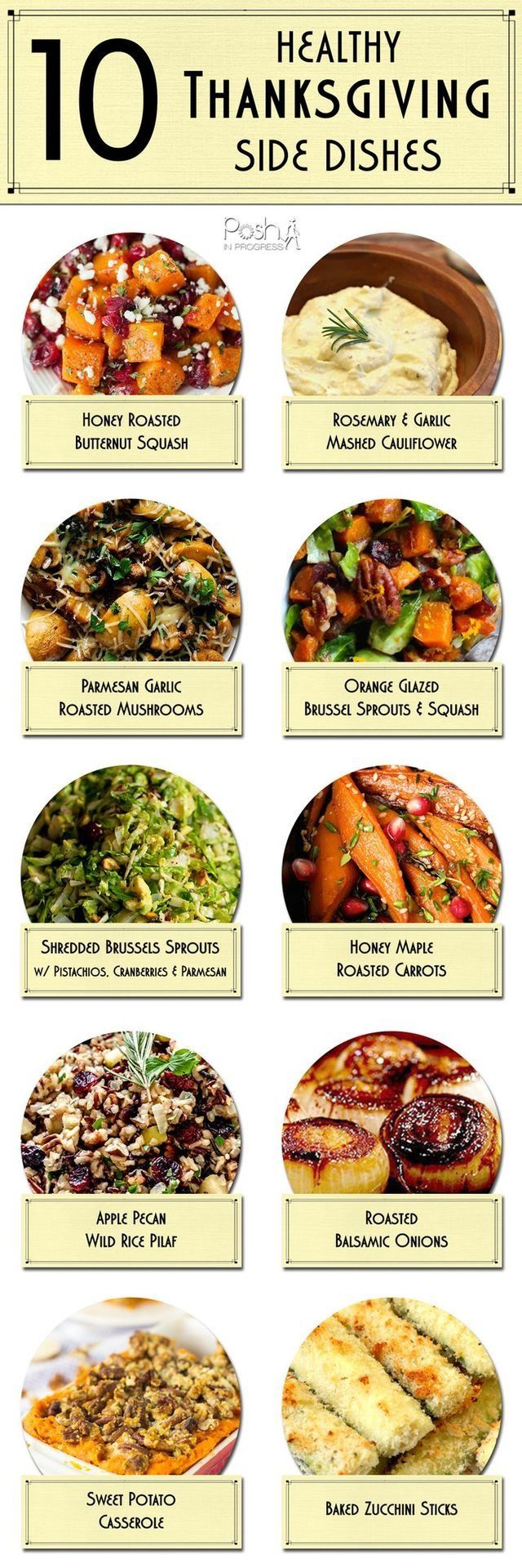 10 Healthy thanks giving side dishes.