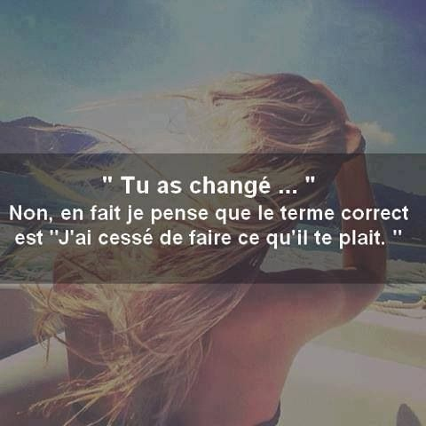 Le changement c'est ....